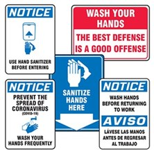 Hand Sanitizing & Hand Washing Signs