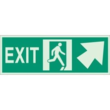 Exit (With Running Man - Arrow Up) Signs
