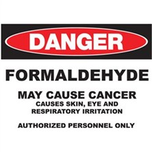 Danger Formaldehyde Causes Cancer Authorized Personnel Only Signs