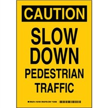 Caution - Slow Down Pedestrian Traffic Signs