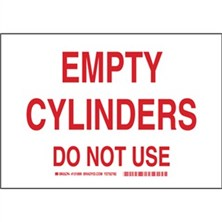 Empty Cylinders Do Not Use Signs