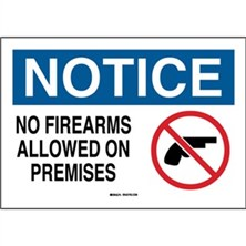 Notice, No Firearms Allowed On Premises