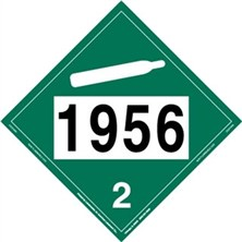 UN 1956 Non-Flammable Gas Placard