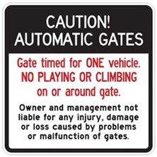 Caution Automatic Gates