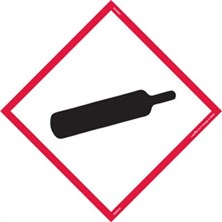 GHS Gas Cylinder Pictogram Tank Placards