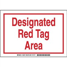 Lean - Designated Red Tag Area Signs
