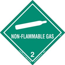 Worded Non-Flammable Gas Labels