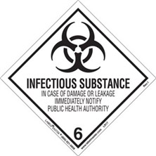 Worded Infectious Substance Labels
