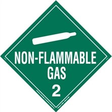 Non-Flammable Gas Worded Placards