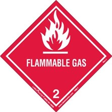 Worded Flammable Gas Labels