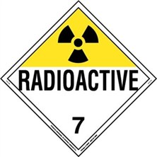 Radioactive Worded Placards
