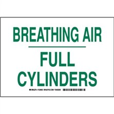 Breathing Air Full Cylinders Signs