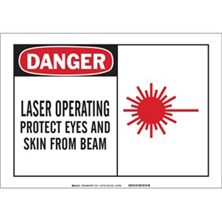 Danger, Laser Operating Protect Eyes And Skin From Beam (With Picto)