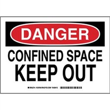 Danger - Confined Space Keep Out Signs