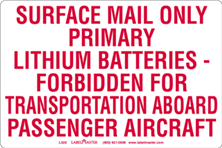 Lithium Batteries Markings- USPS