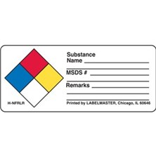 NFPA® Write-On Substance Name Labels