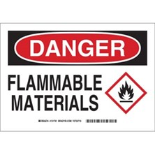 Danger - Flammable Materials (With  Ghs Picto) Signs