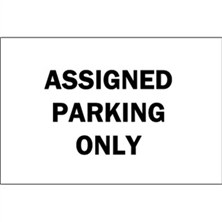 Assigned Parking Only (Black on White)