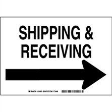 Shipping And Receiving (Right Arrow) Signs