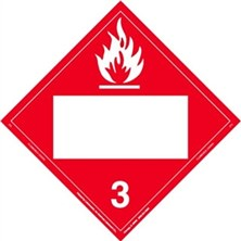 Flammable Liquid Blank Placards