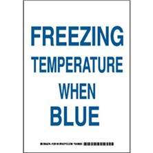 Freezing Temperature When Blue Signs