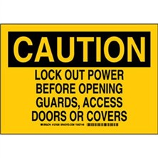 Caution - Lock Out Power Before Opening Guards Access Doors Or Covers