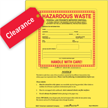 Waste Labels Clearance