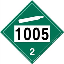 UN 1005 Non-Flammable Gas Placard
