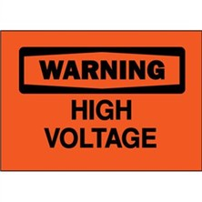 Warning, High Voltage