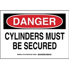 Danger - Cylinders Must Be Secured Signs