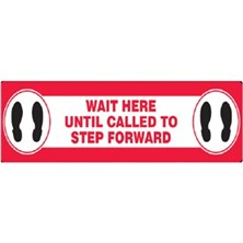 Wait Here Until Called To Step Forward