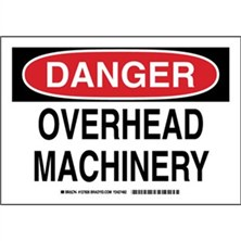 Danger - Overhead Machinery Signs