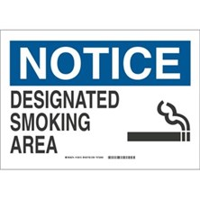 Notice - Designated Smoking Area (With  Picto) Signs