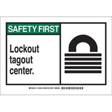 Lockout Tagout Center (With  Picto) Signs