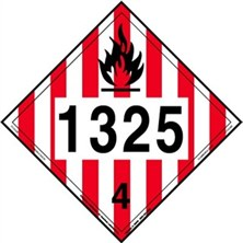 Flammable Solid 4 Digit Placards