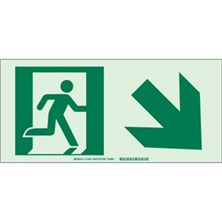 Running Man Picto Only (With Right Down Arrow) Signs