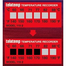 Telatemp Temperature Recording Labels