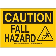 Caution - Fall Hazard (With Picto) Signs