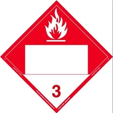 Combustible Liquid Blank Placards