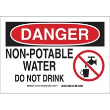 Danger - Non-Potable Water Do Not Drink (With  Picto) Signs