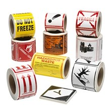 Hazmat Labels, DOT Shipping Labels, Custom Labels, Shipping & Handling Labels & More