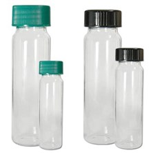 Clear Borosilicate Sample Vials with Caps