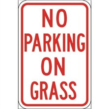 No Parking on Grass