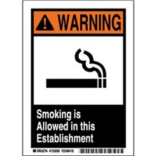 Warning - Smoking Is Allowed In This Establishment Signs