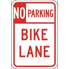 No Parking Bike Lane