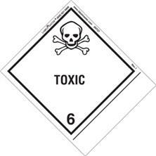Blank Shipping Name Toxic Labels