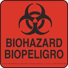 Biohazard Bilingual Labels