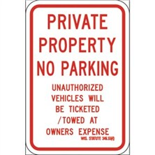 Private Property No Parking RT-3