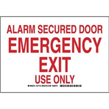 Alarm Secured Door Emergency Exit Use Only Signs
