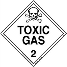 Toxic Gas Worded Placards